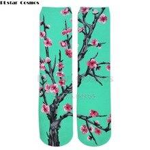 PLstar Cosmos men women long socks 3d Arizona tea print socks Cotton funny High Socks towel bottom men Straight stockings