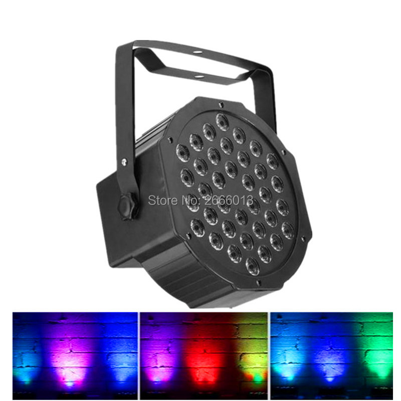 36*3W RGB Led Stage Lights LED Par Light With DMX512 Master Slave Flat DJ Equipments Controller for home Party Disco BAR club 2pcs high quality 512 dmx console stage light equipment 192 dmx controller for stage lighting led par beam lights