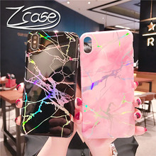 Luxury Retro Marble Pattern Case For Samsung Galaxy S8 S9 S10 Plus S10E Soft Laser Stand Holder Back Cases Note 8 9