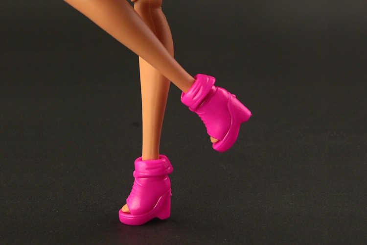 10 cặp/lô Chất Lượng Cao trắng giày đối với barbie búp bê Đẹp ngắn khởi động 2 màu sắc cho bạn lựa chọn