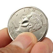 Топ продаж волшебный Крупным планом уличный фокус укус монеты и восстановленный полудоллар Иллюзия доллар
