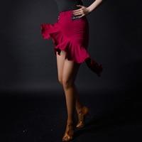 Ladies Latin Skirt Women Practice Irregular Skirts Tango Salsa Samba Modern Dancing Clothes Woman Performance Wear DNV10856