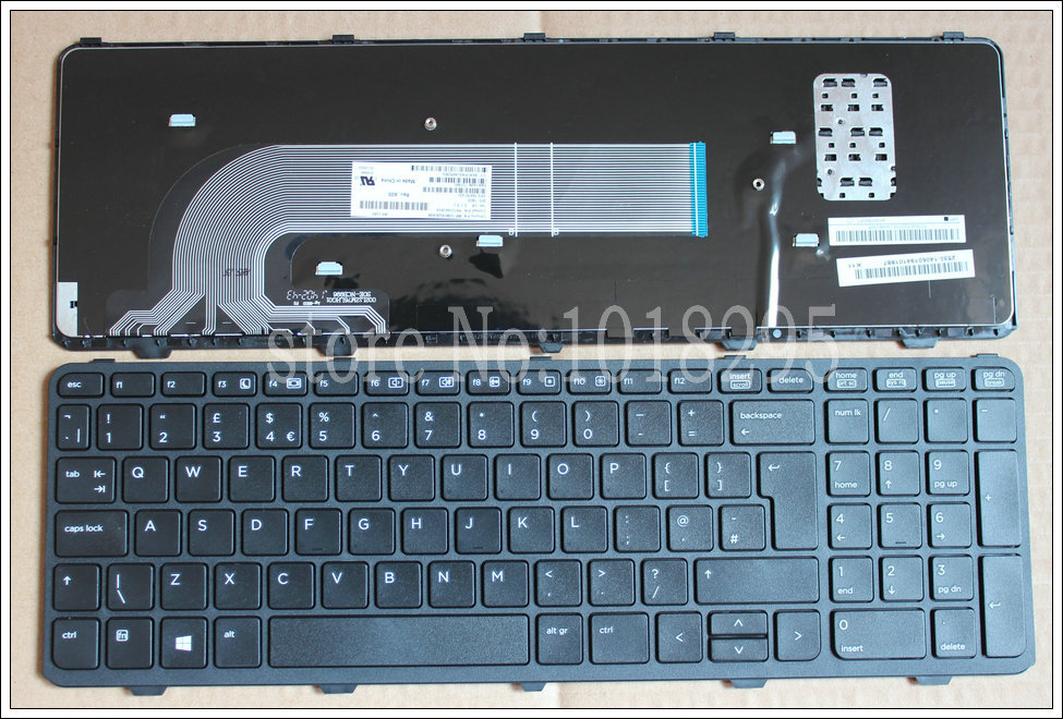 NEW for HP PROBOOK 450 GO 450 G1 455 G1 450-G1 470 G1,470 G2 450 G2 Laptop keyboard UK with frame hp 400 g1