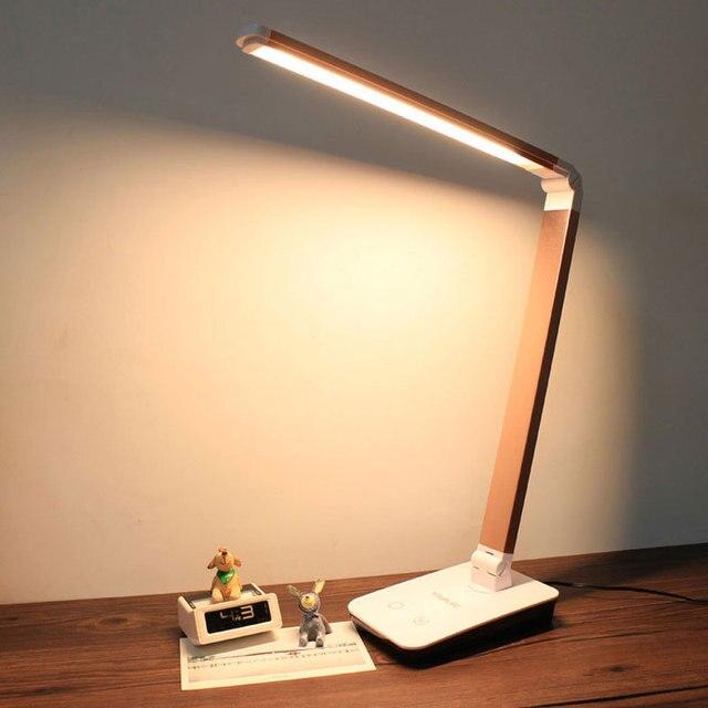 4 уровень сенсорный диммер Светодиодные настольные лампы Складной Стол СВЕТОДИОДНЫЙ Ламба Портативный офис ночного чтения Lampara Лампе де настольная лампа 12 Вт t2