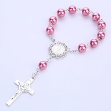 Cross pendant rosary bracelet Catholic  wedding catholic cross wholesale
