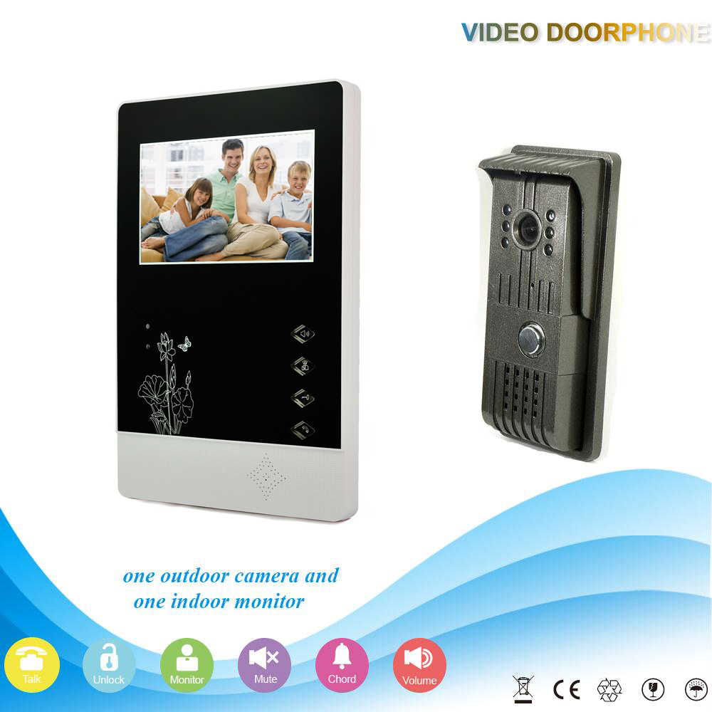 ФОТО chuangkesafe -V43D11-F 1V1 Hot sale 4.3Inch Home Security Smart Video Door Phone work with electronic lock Intercom System
