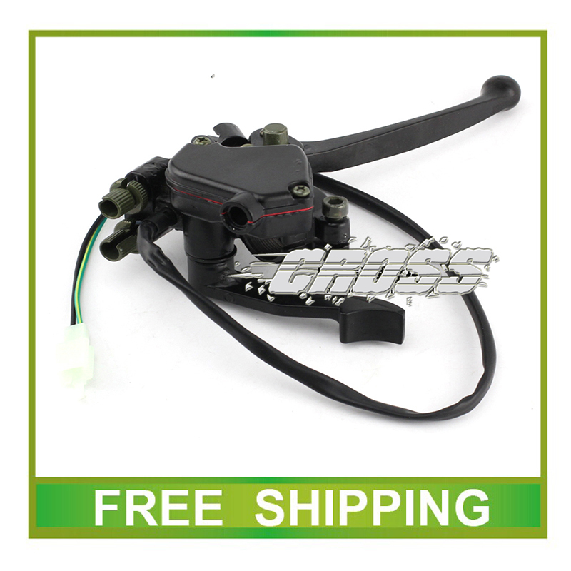 50cc 110cc 125cc 200cc 250cc ATV QUAD throttle thumb accelerator with front brake lever parking lock accessories free shipping