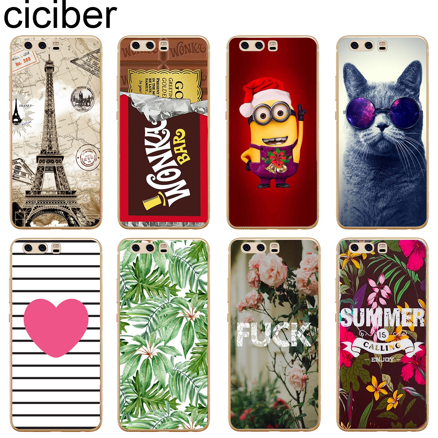 ciciber For HUAWEI P10 Plus Soft Silicone 5.5'' TPU Phone Cases Back Cover Clear Transparent For Huawei P10Plus Coque Fundas