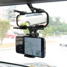 Phone Holder 360 Degrees Car Rearview Mirror Mount Phone Holder Universal Stands For iPhone Samsung HTC GPS Smartphone Z17
