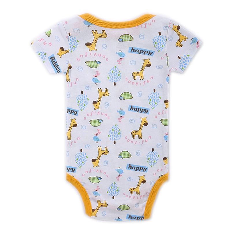 3 Pieceslot Baby Fashion Striped Short Sleeve Rompers Children Jumpsuit Newborn Boys Girls Clothes Body Roupa de Overalls (54)