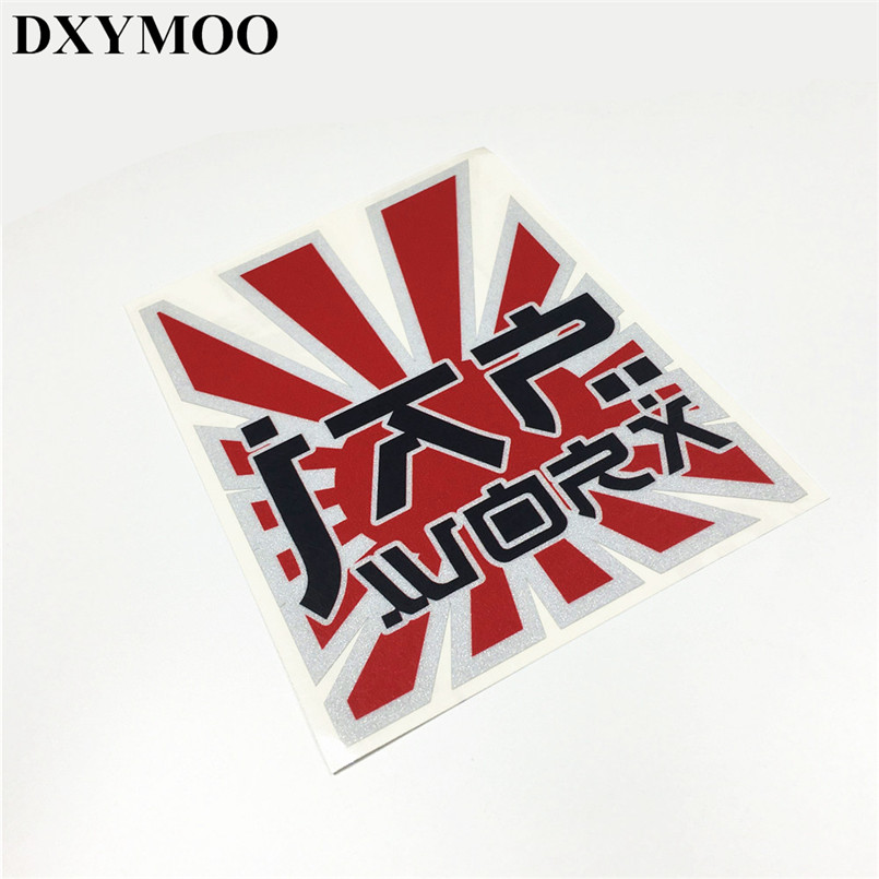Japanese JDM WORK PASSWORD Reflective Car Stickers Car Window Whole Body Tail Motorcycle Vinyl Decals 3M