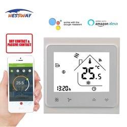 HESSWAY TUYA Smart wi fi 5 + 2 okresy programowalny bezprzewodowy termostat kontroli stopni dla suchej skontaktuj się z w Laboratoryjne urządzenia termostatyczne od Artykuły biurowe i szkolne na