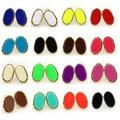 2016 Nueva Marca de Corte Mini Oval Stud Pendientes de Oro de La Moda Femenina Pendientes de La Joyería Al Por Mayor