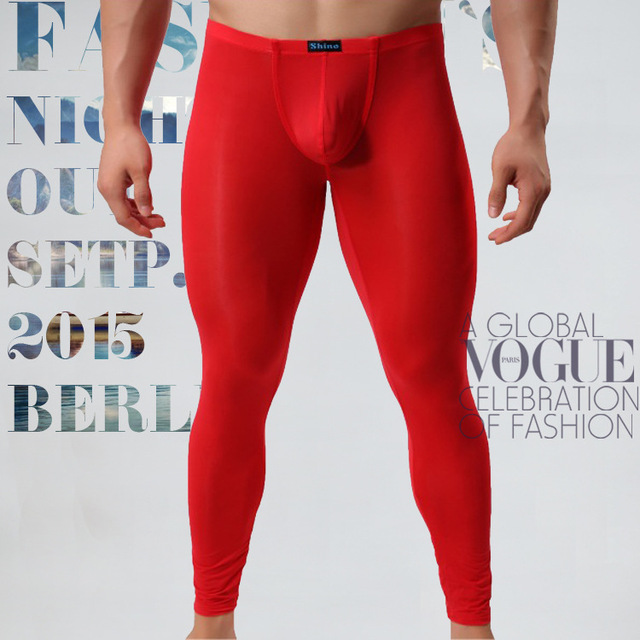 KAMUON Mens Cotton Pouch Underwear Long Johns Thermal