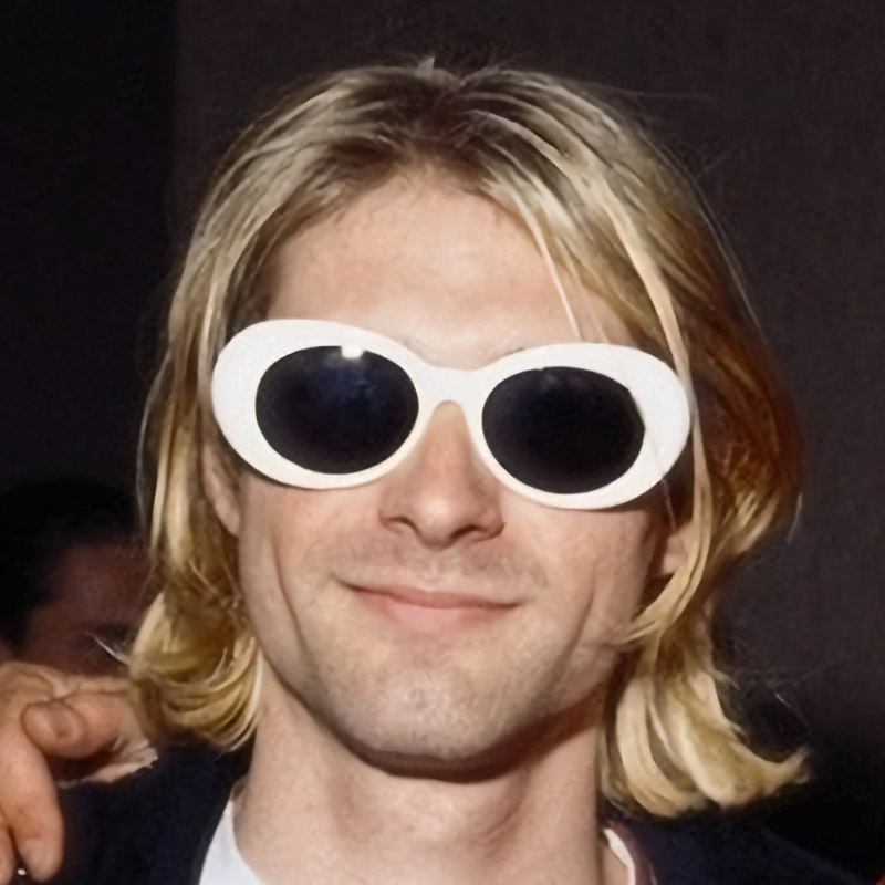 Nirvana Kurt Cobain Glasses Men Clout Goggles White Oval Sunglasses Women Retro Mirror Sunglasses Men 2019 Rock Eyewear UV400