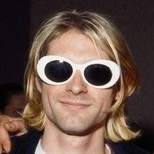 67b4bee894 Nirvana, Kurt Cobain, gafas hombres Clout gafas Oval blanco gafas de sol de  las mujeres Retro espejo gafas de sol hombres 2019 .
