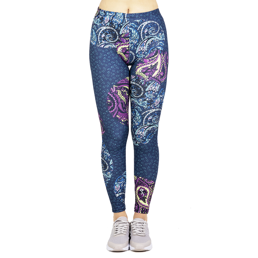 Fashion Leggins Mujer Paisley Orbs Printing Legging Feminina Leggins Fitness Woman High Waist Pants Workout Leggings