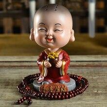 TENGRUI Pequeno Monge Monge Balanço decoração Do Carro Inteligente Corpo Artigos de decoração do carro Auto Acessórios Ornamento