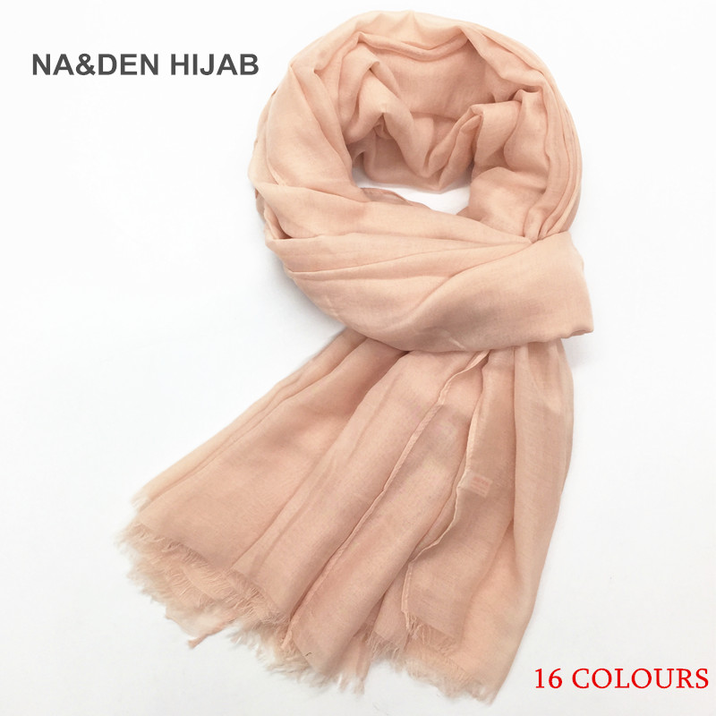 2018 NEW plain Maxi hijab cotton scarf thin breathe soft head scarfs elementary women islamic scarves high quality brand 18color