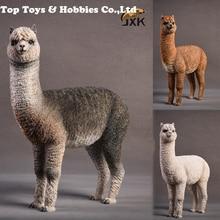 1/6 Resin Alpaca Animal Model  Jxk011 Grass Mud Horse model Static Decoration 3 Colors Pet Animal F 12