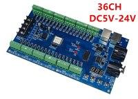 Free Shipping 1 Pcs DC5V 24V 36 Channel 12groups Easy 36CH RGB DMX512 XRL 3P Led