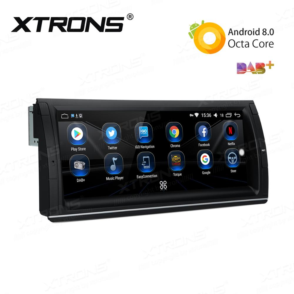 XTRONS 10.25'' Android 8.0 Octa Core Car Radio Player for BMW X5 E53 1999 2000 2001 2002 2003 2004 2005 2006 GPS SWC USB NO DVD