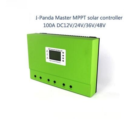 LCD 100A mppt solar charge controller 12V 24V 36V 48V 100A PV regulator charge Solar Battery with Rs232 Lan 5KW system 60a 12v 24v 48v solar charge controller engineering premium quality com rs232 with pc page 1