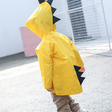 Детский плащ-дождевик с динозавром для детского сада, Детское Пончо большого класса, Детское Пончо на весну и осень, для детей возрастом от 2 до 6 лет