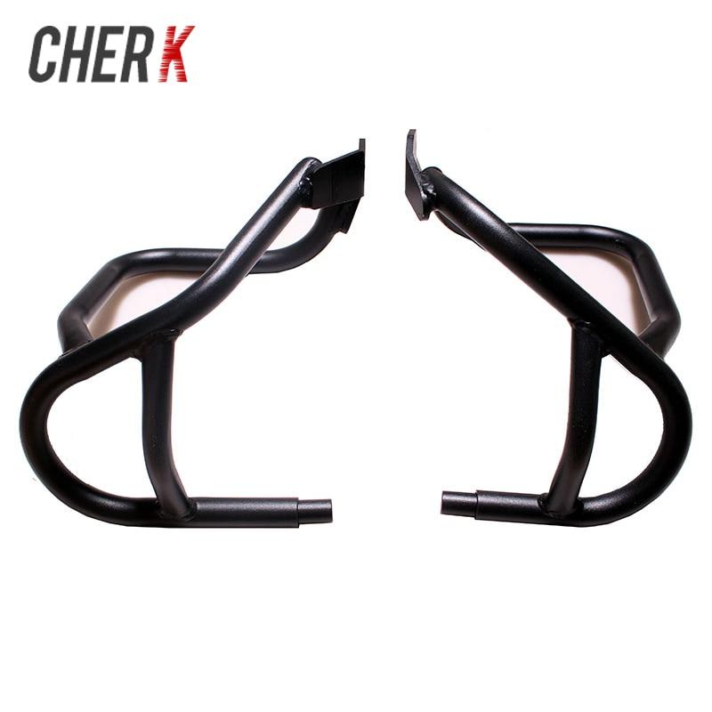 Cherk Black Motorcycle Under Engine Guard Highway Crash Bar Frame Protection For BMW R1200GS GS 2004-2012 2011 2010 09 08 gs 37 black