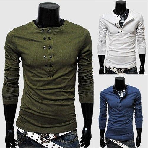 22ffbfe6a17 HOT!New Long Sleeve mens t shirts fashion