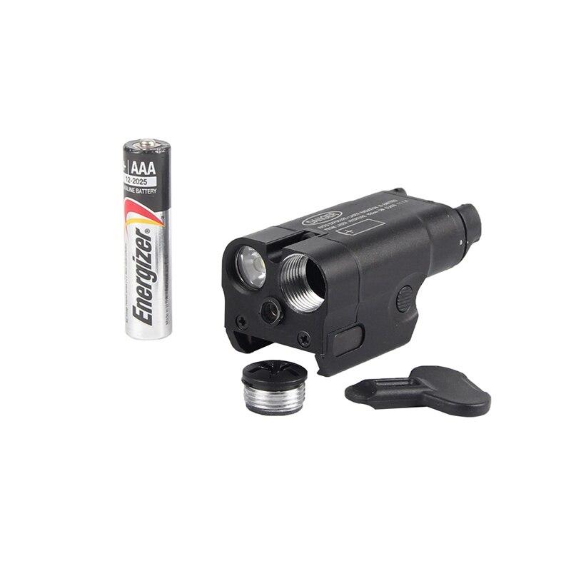 High Lumen XC2 Flashlight Pistol MINI Light with Red Dot for Tactical Hunting Airsoft RL8-0013 new xc2 laser light compact pistol flashlight with red dot laser tactical led mini white light 200 lumens airsoft flashlight