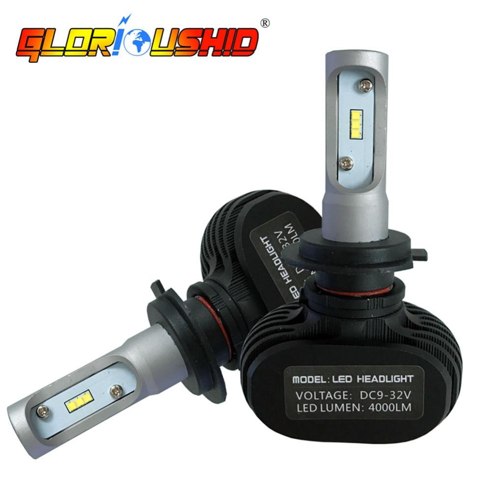 Один комплект Авто свет H7 светодиодный H4 H1 H3 H11 9005 9006 CSP чипы 6500 К автомобиля светодиодный HeaLight лампы туман свет фар автомобилей укладки