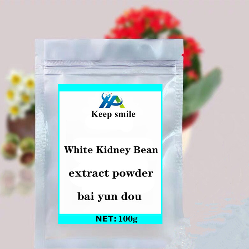 White Kidney Bean extract powder helps weight loss reduces blood sugar and Insulin supplement protein festival glitter immune image