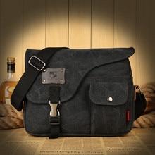 2016 Men Canvas Briefcase For File Document Book Business Style CrossBody Shoulder Bag  Men Bag Casual Handbags