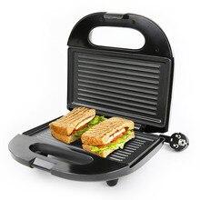 DMWD домашняя электрическая сковорода, машина для завтрака, сэндвич, гамбургер, блинница, плита для выпечки, хлеб, тостер, двухстороннее Отопление