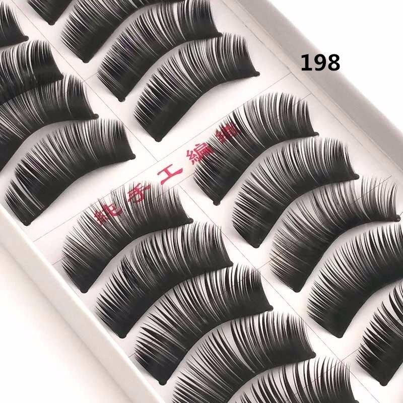 10 pairs False Eyelashes Natural Long Eyelash Handmade ...