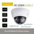 O Envio gratuito de 2016 NOVA 4 K IP Câmera de Segurança DAHUA Câmera 12MP Ultra HD IR Rede Câmera Dome Sem Logotipo IPC-HDBW81200E-Z