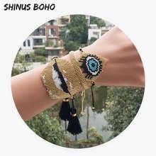 Мужские браслеты shinusboho с золотыми сердечками для губ miyuki