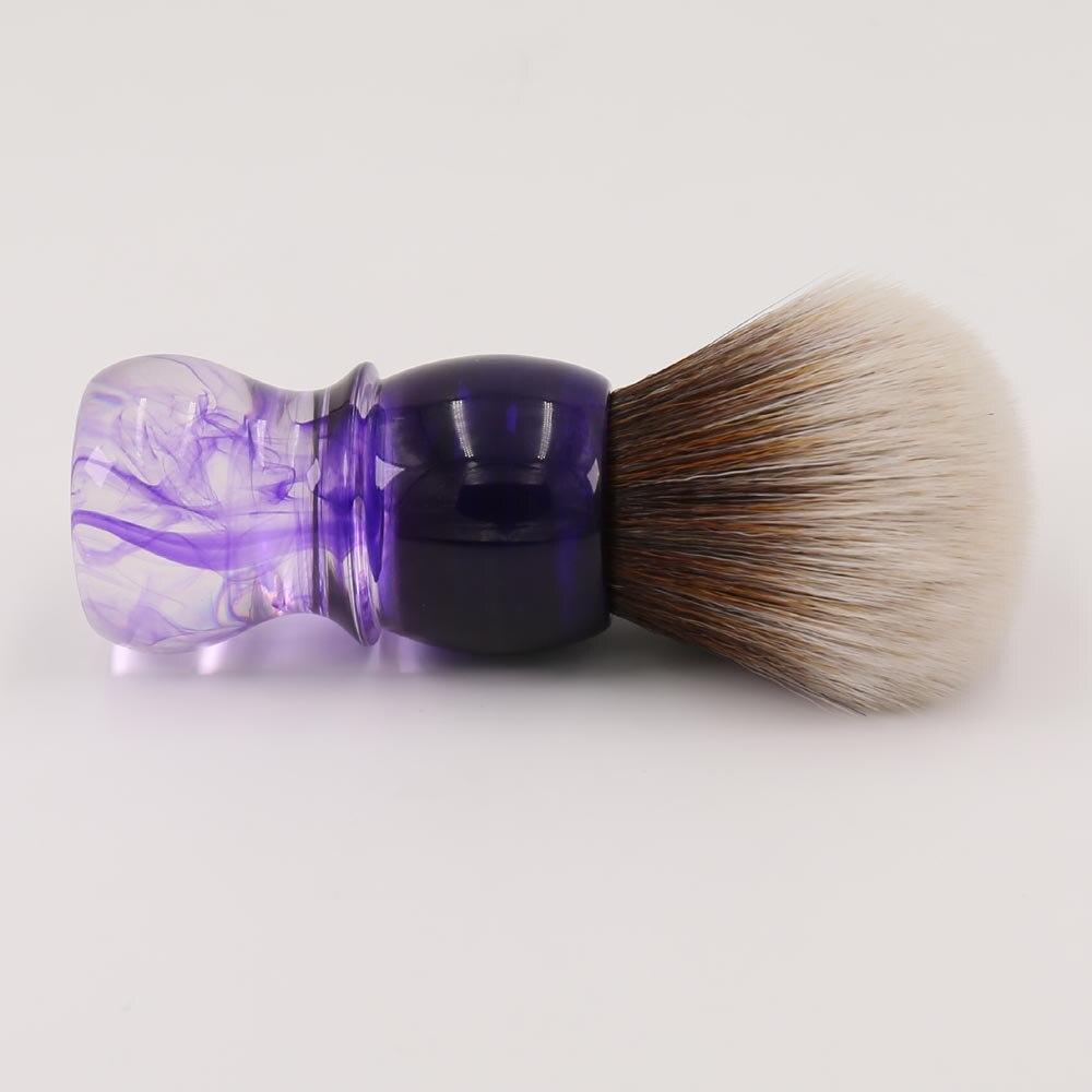 YAQI : Brosse synthétique de style Tuxedo la Balustre - Page 10 Yaqi-Purple-Haze-Mew-Brun-Synth-tique-Poign-e-Hommes-Barbe-de-Rasage-Brosse