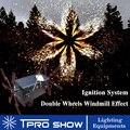 Bruiloft Koude Fontein Machine Dubbele Spining Remote Pyrotechniek Systemen Stage Sliver Vlam Licht Effect Apparaat