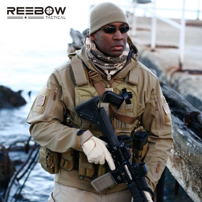 V4.0 imperméable à l'eau doux Shell veste tactique en plein air chasse Sports armée SWAT militaire formation coupe-vent manteau d'extérieur vêtements - 6