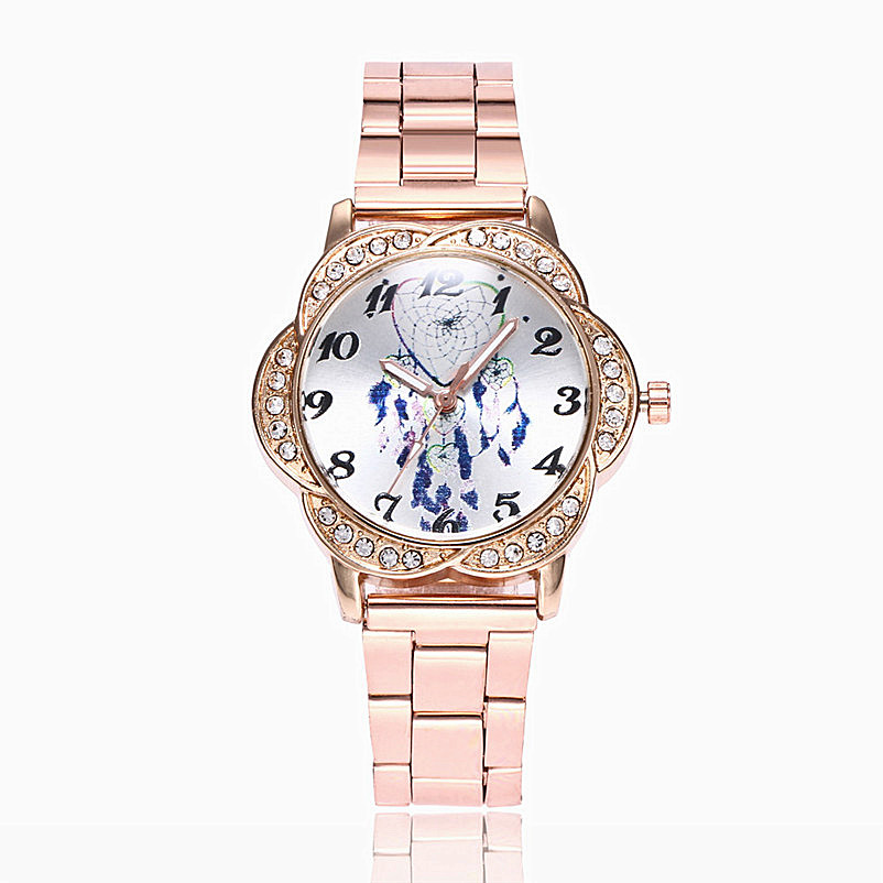 Hot Sale Women Watches Dream Catcher Women Fashion Alloy Band Analog Quartz Round Wrist Watch Watches Bracelet Jewelry & Watches fashion woman s zinc alloy band quartz analog waterproof wrist watch bracelet silver golden
