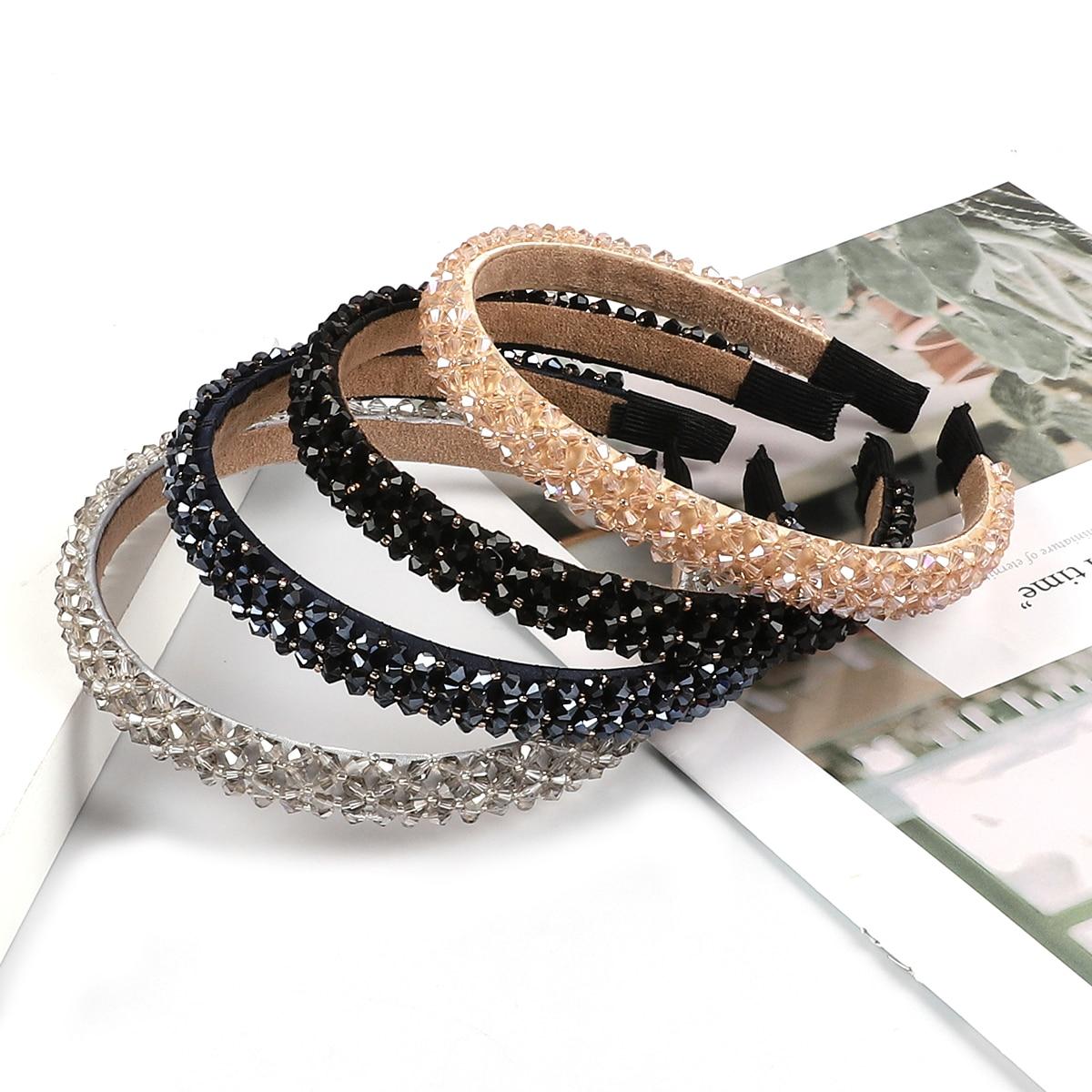 Girls Shiny Luxury Rhinestone Hair Band Diamond Hair Hoop Hair Accessories For Women Crystal Headbands Headwear