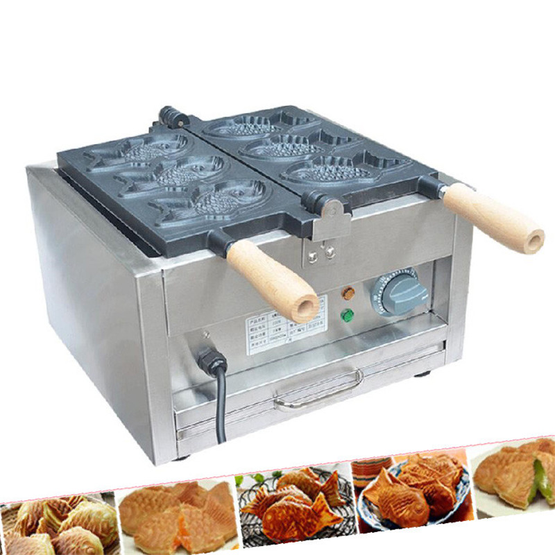 Beijamei 110v 220v Electric Commercial Taiyaki Waffle Maker Making Machine Cooking Appliances Industrial Fish Cake Making Machine