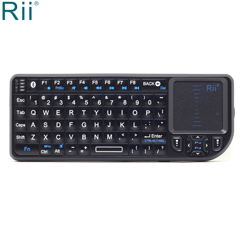 Rii K02 Mini Bluetooth Wireless Keyboard Air Mouse with TouchPad for Android TV Box/Mini PC/Laptop/Tablets/Smart PhonesRii K02 Mini Bluetooth Wireless Keyboard Air Mouse with TouchPad for Android TV Box/Mini PC/Laptop/Tablets/Smart Phones