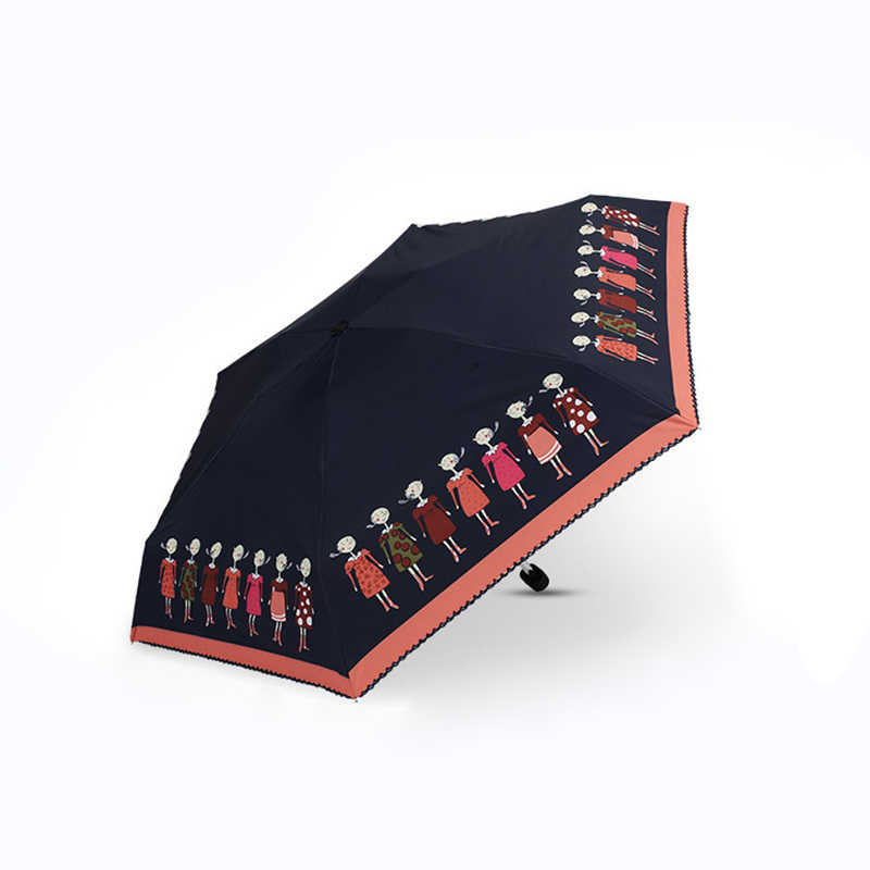 Ultra Ringan Baru Payung Matahari Wanita Mini Berjemur Payung Kecil Segar Kerai Lipat 5 Payung Lipat Penggunaan Ganda tabir Surya Payung
