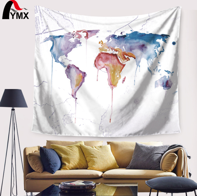 World map printing mandala tapestry wall hanging home textile world map printing mandala tapestry wall hanging home textile decorative geometric wall tapestry yoga mat blanket gumiabroncs Gallery