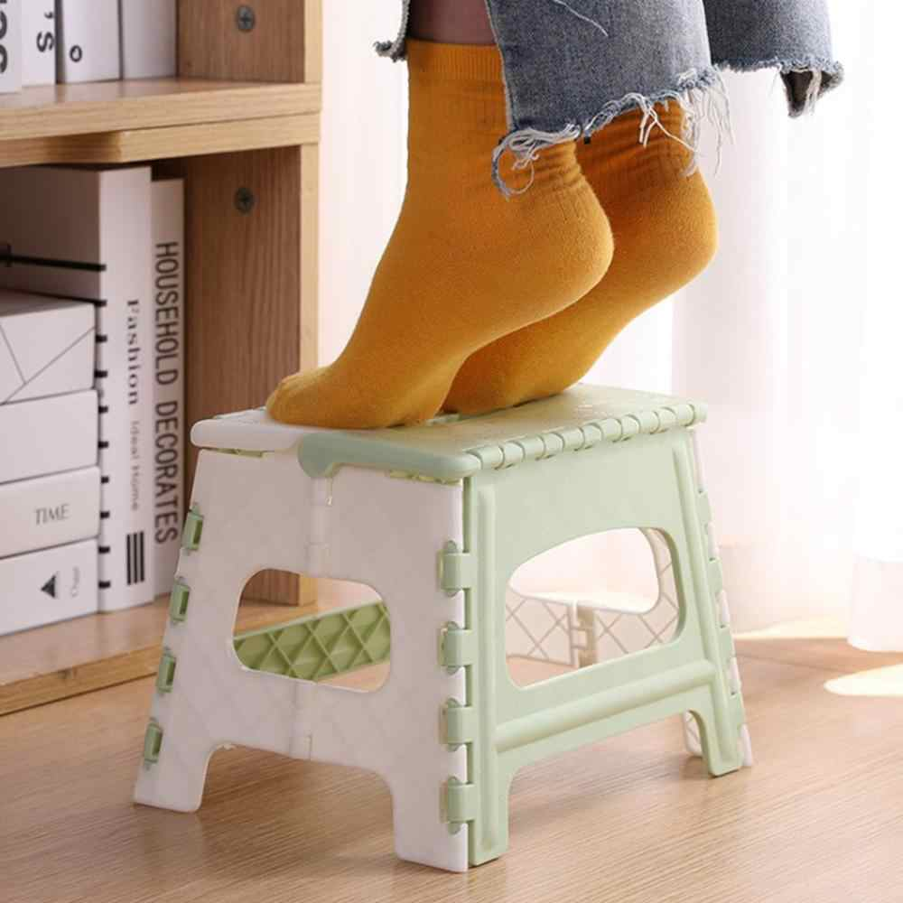 Plastic folding stool Portable Multi Purpose Foldable travel Train Outdoor  Sturdy Step Stool Home Kitchen Garage Blue/Pink @25