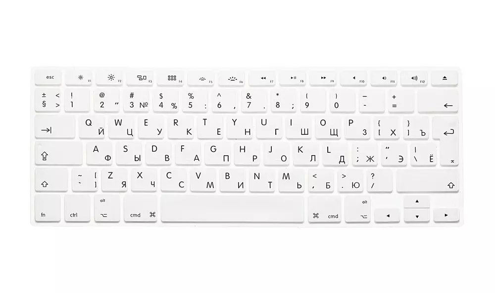 EU US Soft Silicon For Macbook A1466 Keyboard Cover Russian Language Cover For Macbook Retina13 Keyboard Cover (1)