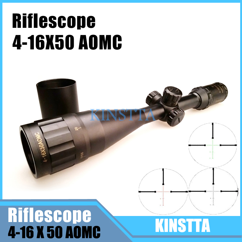 Tactical Lurker 4-16X50 Ultra Clear Optics Rifle scope Red And Green Reticle Fiber Optic Sight Sniper Hunting Scope For Airsoft 3 5 10x40e red green dot laser sight scope hunting optics riflescopes tactical airsoft air guns scope chasse sniper rifle scope